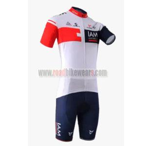2016 Team IAM Cycling Kit White Blue Red