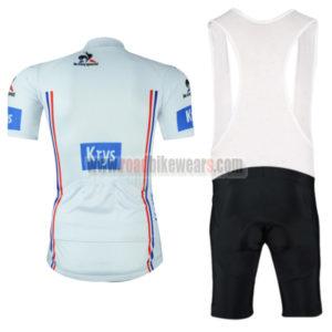 2016 Krys Tour de France Biking Bib Kit White