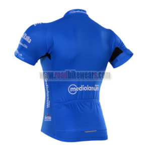 2016 Team LaGazzettadello Sport Tour de Italia Biking Jersey Maillot Blue