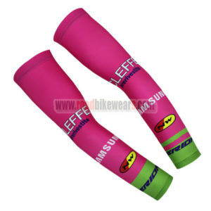 2016 Team NW MERIDA Cycling Arm Warmers Sleeves Pink Green