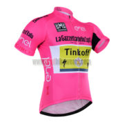 2016 Team Tinkoff LaGazzettadello Sport enel Tour de Italia Cycling Jersey Pink