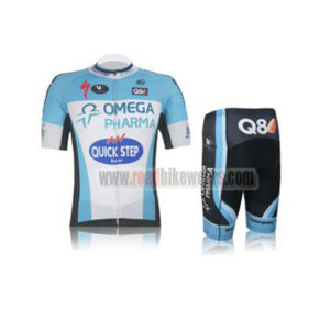 aac6bf4a9 2012 Team QUICK STEP Q8 Summer Winter Riding Apparel Cycle Jersey and Padded  Shorts Pants Roupas Bicicleta White Blue