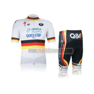 5e7ae7a60 2012 Team QUICK STEP Q8 Germany Summer Winter Riding Apparel Cycle Jersey  and Padded Shorts Pants Roupas Bicicleta White