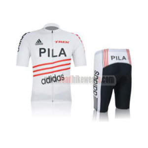 9bfc5318e 2012 Team PILA TREK Summer Winter Riding Clothing Bicycle Jersey and Padded  Shorts Pants Roupas Bicicleta White