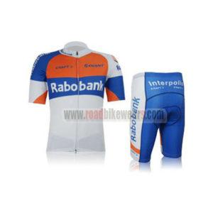 2012 Team Rabobank Summer Winter Riding Clothing Bicycle Jersey and Padded  Shorts Pants Roupas Bicicleta Orange Blue White 0753be246