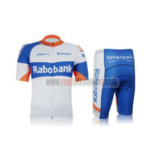 890bec8f5 2012 Team Rabobank Summer Winter Riding Clothing Bicycle Jersey and Padded  Shorts Pants Roupas Bicicleta White Blue