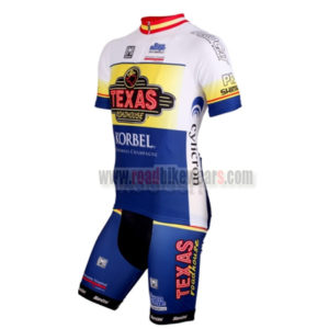 2012 Team TEXAS Summer Winter Biking Wear Riding Jersey and Padded Shorts  Pants Roupas Bicicleta White Blue e4207272b