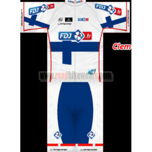 97b16c7db 2013 Team FDJ Finland Summer Winter Cycle Wear Riding Jersey and Padded  Shorts Pants Roupas Bicicleta White Blue