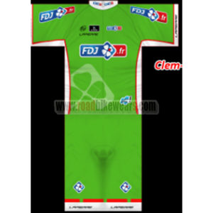 13a7f1bc9 2013 Team FDJ Summer Winter Cycle Wear Riding Jersey and Padded Shorts Pants  Roupas Bicicleta Green