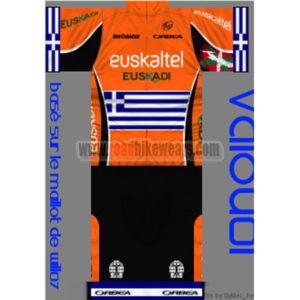 583b81a62 2013 Team euskaltel Euskadi Greece Summer Winter Biking Wear Riding Jersey  and Padded Shorts Pants Roupas Bicicleta Orange Black