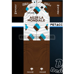 2014 Team AG2R LA MONDIALE FOCUS Summer Winter Biking Outfit Cycle Jersey  Maillot and Padded Shorts Pants Roupas Bicicleta  8fa151bfb