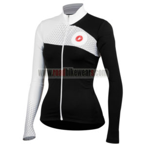 2014 Team Castelli Women s Bike Clothing Winter Summer Riding Jersey Top  Shirt Maillot Black White 2861bedef