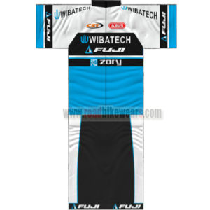6a1dd1ad1 2014 Team FUJI WIBATECH Summer Winter Biking Outfit Cycle Jersey Maillot  and Padded Shorts Pants Roupas Bicicleta White Black Blue