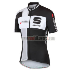 2014-team-sportful-cycling-jersey-maillot-tops-shirt-black-grey