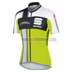 2014-team-sportful-cycling-jersey-maillot-tops-shirt-black-white-green