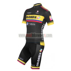 505c4e9ef00 2015 Team COLOMBIA Summer Winter Biking Outfit Cycle Jersey Maillot and  Padded Shorts/Pants Roupas Bicicleta Black
