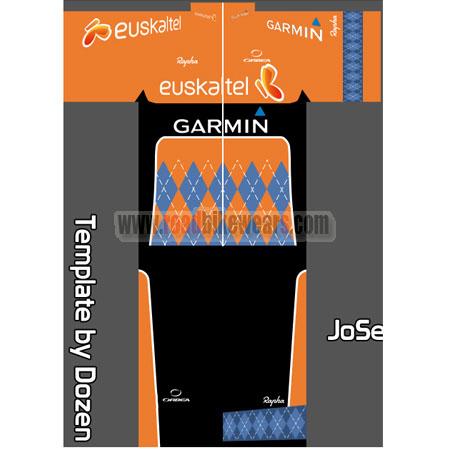 1d5c84a2d 2016 Team Euskaltel GARMIN Summer Winter Riding Clothing Cycle Jersey  Maillot and Padded Shorts Pants Roupas Bicicleta Orange Black