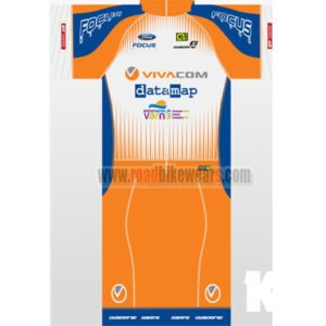 2016 Team VIVACOM datamap FOCUS Summer Winter Riding Clothing Cycle Jersey  Maillot and Padded Shorts Pants Roupas Bicicleta Orange Blue 3e43b09ca