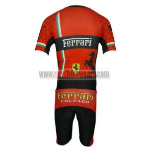 2013 Team FERARI Short Sleeves Triathlon Cycle Clothing Skinsuit Red Black