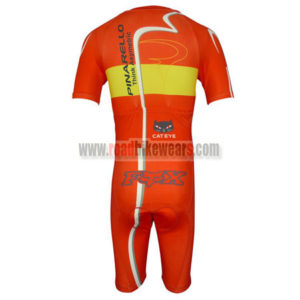 2013 Team PINARELLO Short Sleeves Triathlon Cycle Wear Skinsuit Red Yellow