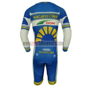 2013 Team Vacansoleil DCM Long Sleeves Triathlon Biking Outfit Skinsuit Blue