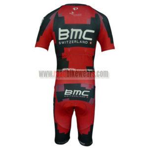 2014 Team BMC Short Sleeves Triathlon Cycle Apparel Skinsuit Red Black