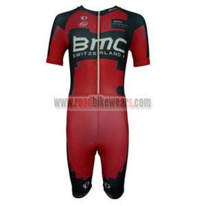 2014 Team BMC Short Sleeves Triathlon Riding Wear Skinsuit Red Black ... 5617f21e3