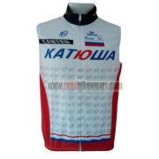 2014 Team KATUSHA Cycling Vest Sleeveless Waistcoat Rain-proof Windbreak White Red