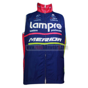 2014 Team Lampre MERIDA Cycling Vest Sleeveless Waistcoat Rain-proof Windbreak Pink Blue