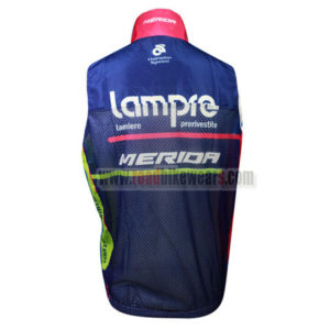 2014 Team Lampre MERIDA Riding Vest Sleeveless Waistcoat Rain-proof Windbreak Pink Blue
