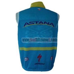 2016 Team ASTANA Riding Vest Sleeveless Waistcoat Rain-proof Windbreak Blue