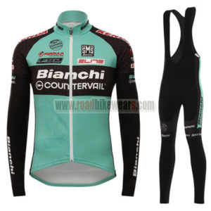 2016 Team Bianchi COUNTERVAIL Cycling Long Bib Suit Black Green