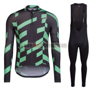2016 Team RAPHA Cycling Long Bib Suit Black Green
