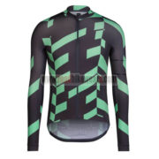 2016 Team RAPHA Cycling Long Jersey Maillot Black Green