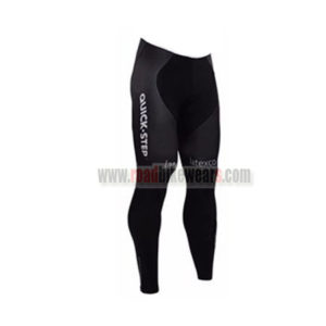 2016 Team etixxl QUICK STEP Cycle Long Pants Tights Black
