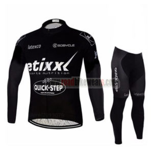 2016 Team etixxl QUICK STEP Cycle Long Suit Black