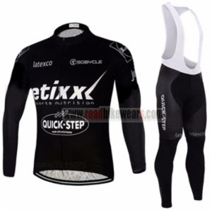 2016 Team etixxl QUICK STEP Cycling Long Bib Suit Black