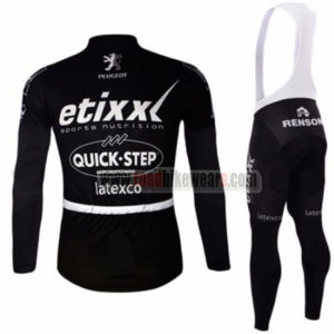 2016 Team etixxl QUICK STEP Riding Long Bib Suit Black
