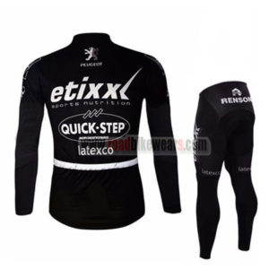 2016 Team etixxl QUICK STEP Riding Long Suit Black
