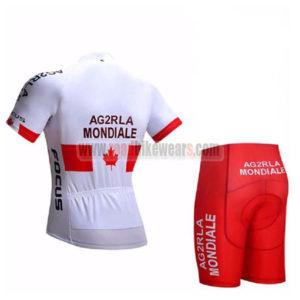 2017 Team AG2R LA MONDIALE CANADA Bike Kit White Red