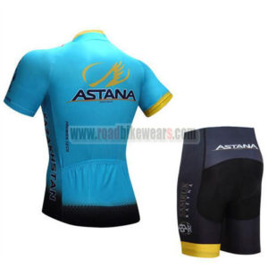 2017 Team ASTANA Bike Kit Blue Black