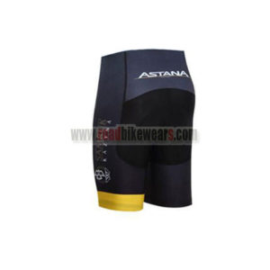 2017 Team ASTANA Bike Shorts Bottoms Black Yellow