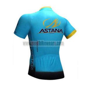 2017 Team ASTANA Biking Jersey Maillot Shirt Blue Black