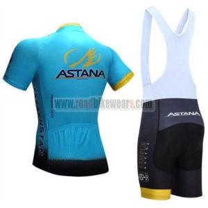 2017 Team ASTANA Riding Bib Kit Blue Black