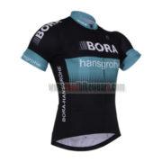 2017 Team BORA hansgrohe Cycle Jersey Maillot Shirt Black Blue