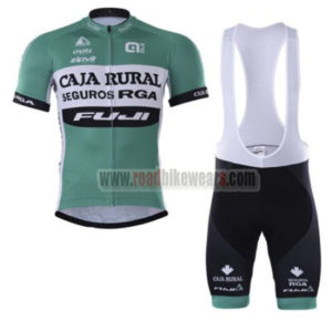 bfff10582 2017 Team CAJA RURAL FUJI Biking Uniform Cycle Jersey and Padded Bib Shorts  Roupas Bicicleta