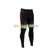 2017 Team Cannondale drapac Biking Long Pants Tights Black Green