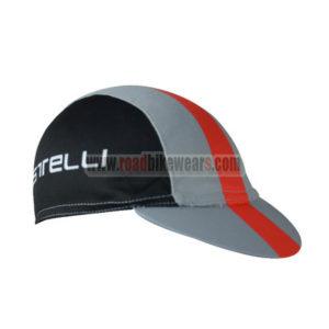 2017 Team Castelli Riding Cap Hat Black Grey Red