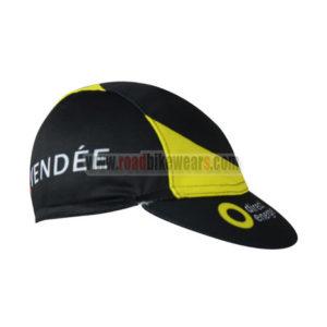 2017 Team Direct Energie VENDEE Riding Cap Hat Black Yellow
