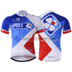 2017 Team FDJ Cycling Jersey Maillot Shirt White Blue Red